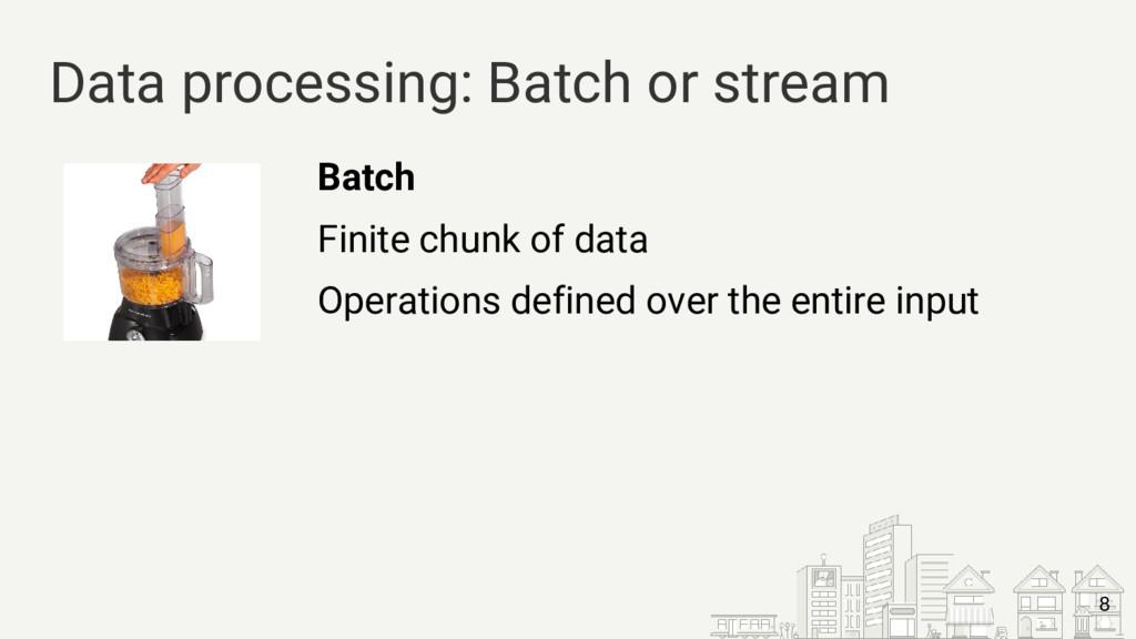 Batch Finite chunk of data Operations defined o...