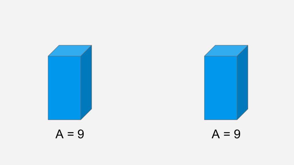 A = 9 A = 9