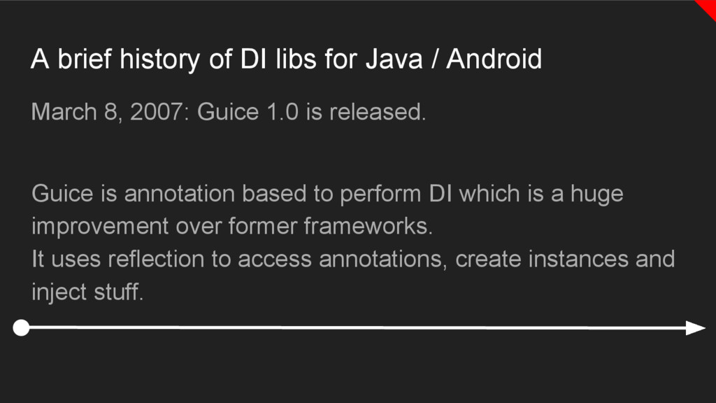 A brief history of DI libs for Java / Android M...