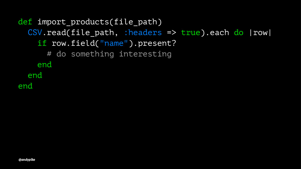 def import_products(file_path) CSV.read(file_pa...