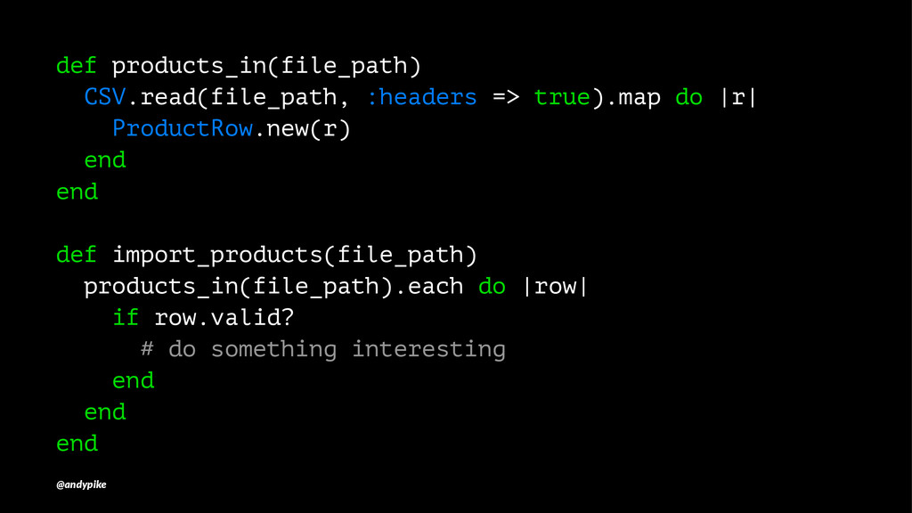 def products_in(file_path) CSV.read(file_path, ...
