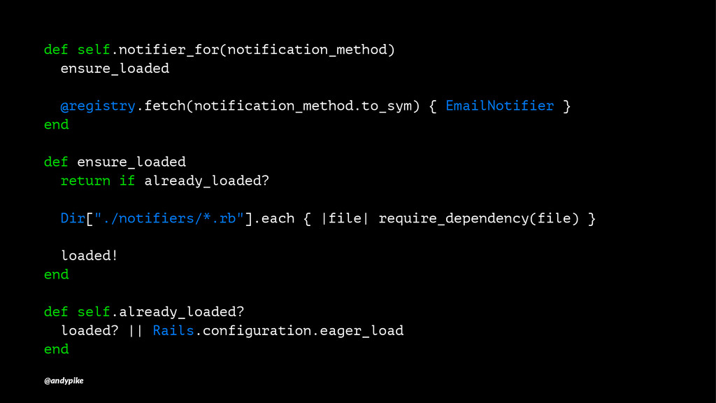 def self.notifier_for(notification_method) ensu...