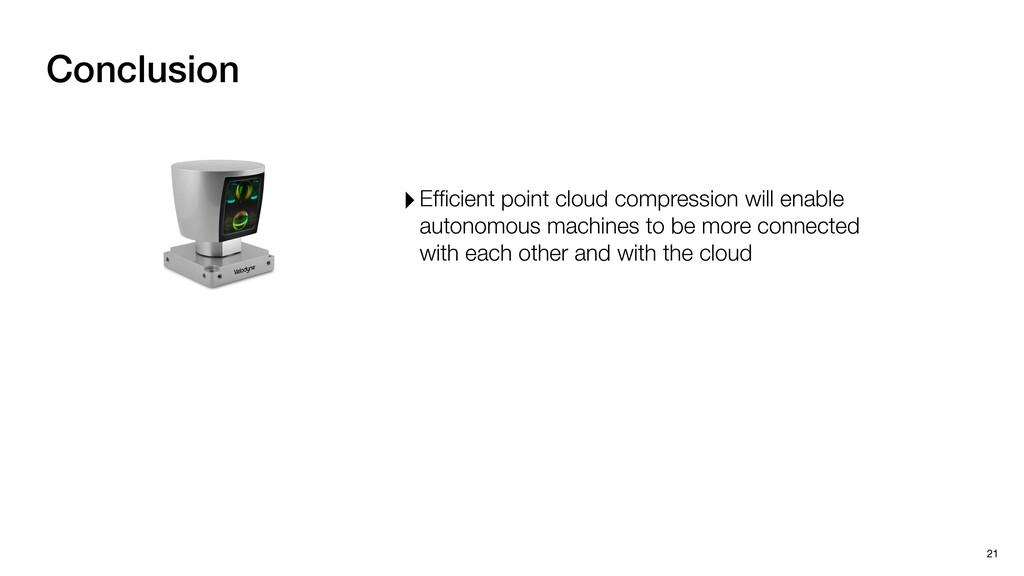 Conclusion 21 ‣Efficient point cloud compression...