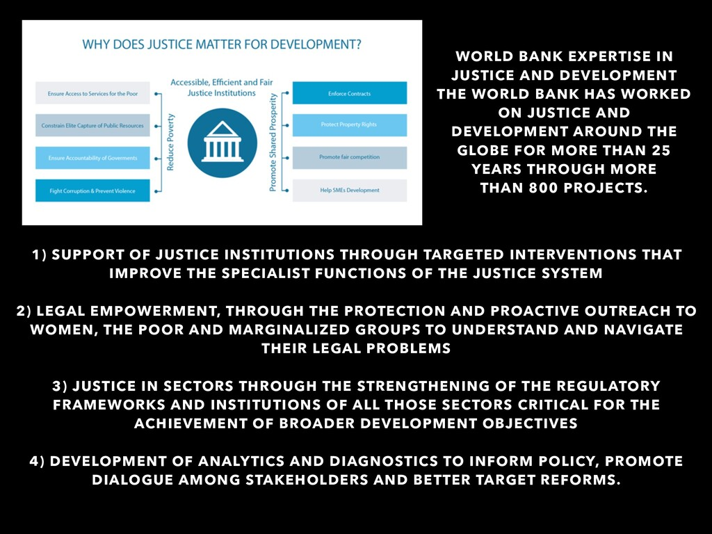 1) SUPPORT OF JUSTICE INSTITUTIONS THROUGH TARG...