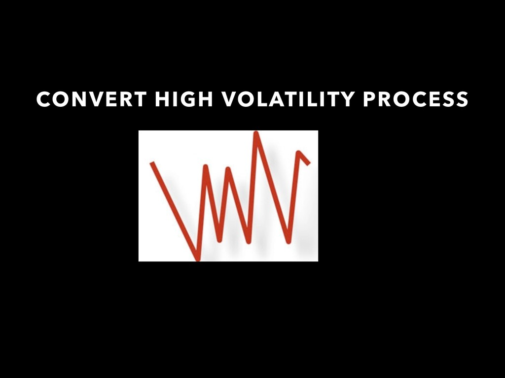 CONVERT HIGH VOLATILITY PROCESS
