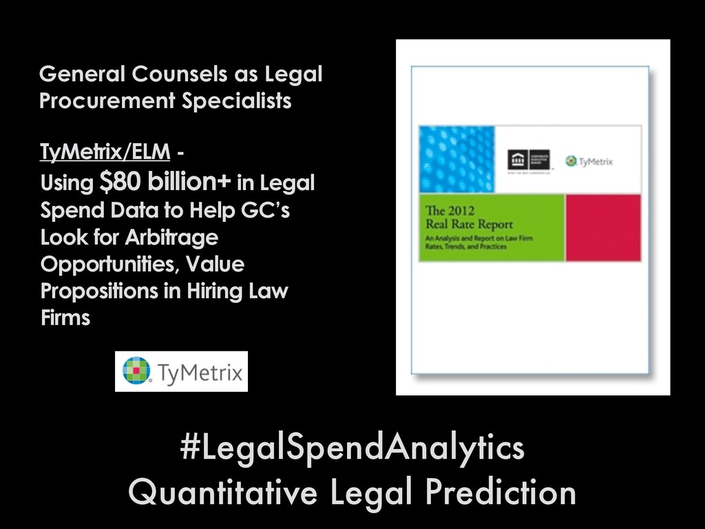 General Counsels as Legal Procurement Specialis...