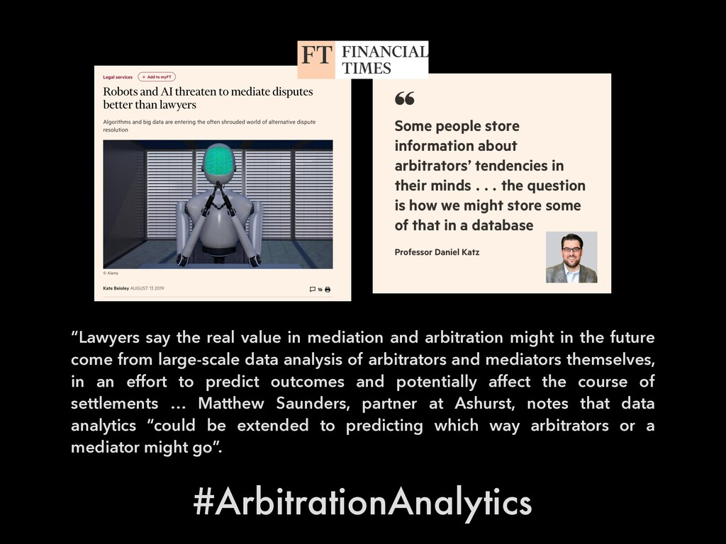 """""""Lawyers say the real value in mediation and ar..."""