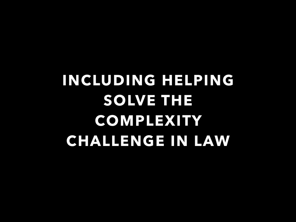 INCLUDING HELPING SOLVE THE COMPLEXITY CHALLENG...