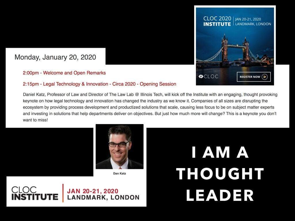 I AM A THOUGHT LEADER
