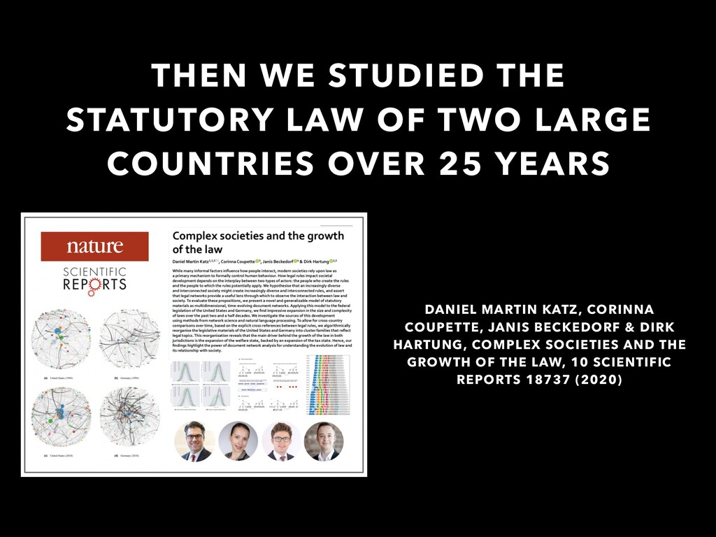 THEN WE STUDIED THE STATUTORY LAW OF TWO LARGE ...
