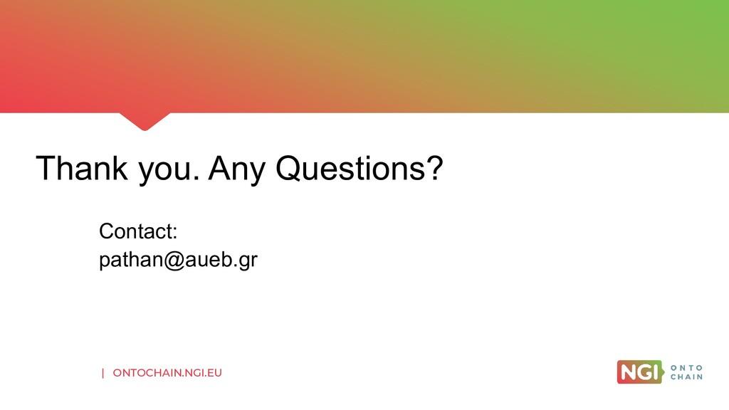 | ONTOCHAIN.NGI.EU Thank you. Any Questions? Co...