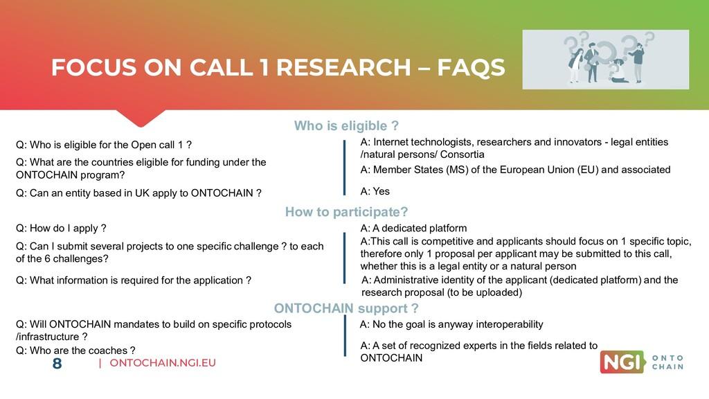 | ONTOCHAIN.NGI.EU FOCUS ON CALL 1 RESEARCH – F...