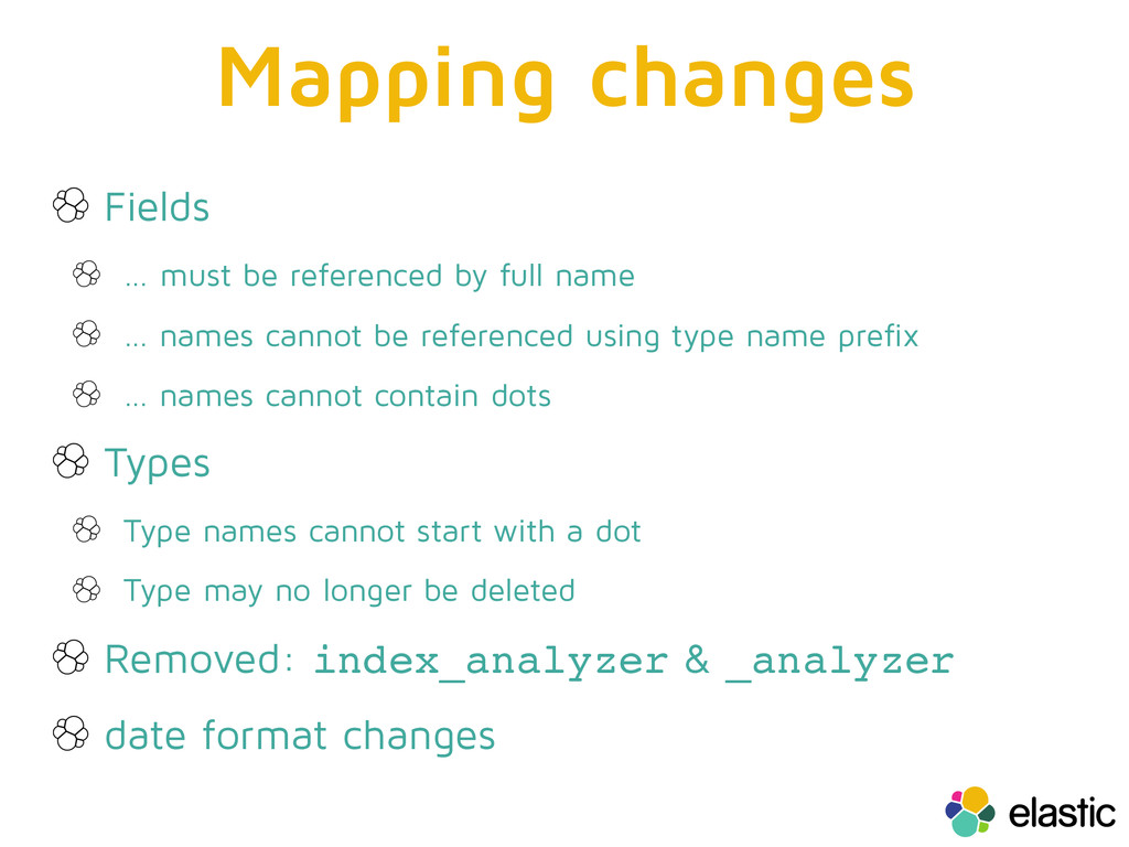 Mapping changes Fields … must be referenced by ...