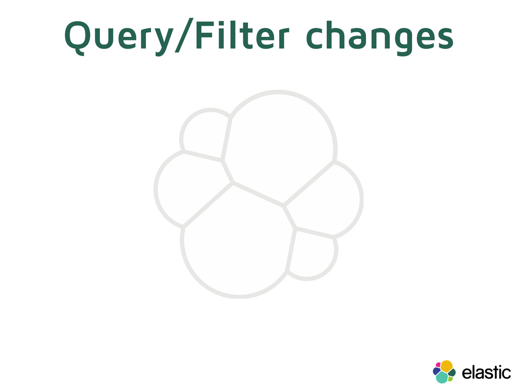 Query/Filter changes