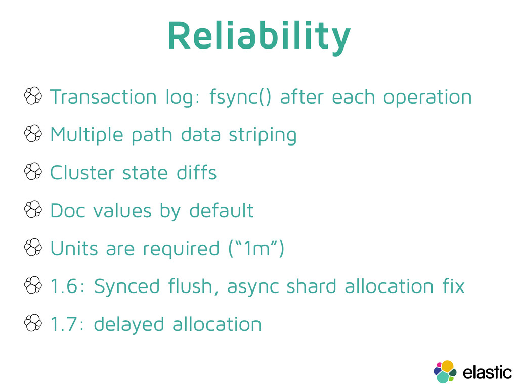 Reliability Transaction log: fsync() after each...