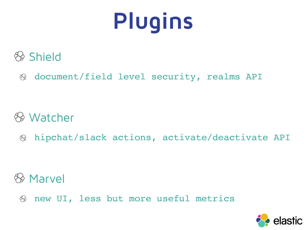 Plugins Shield document/field level security, r...