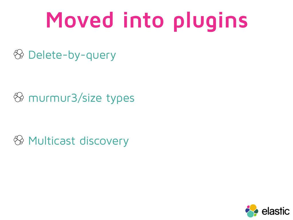 Moved into plugins Delete-by-query murmur3/size...
