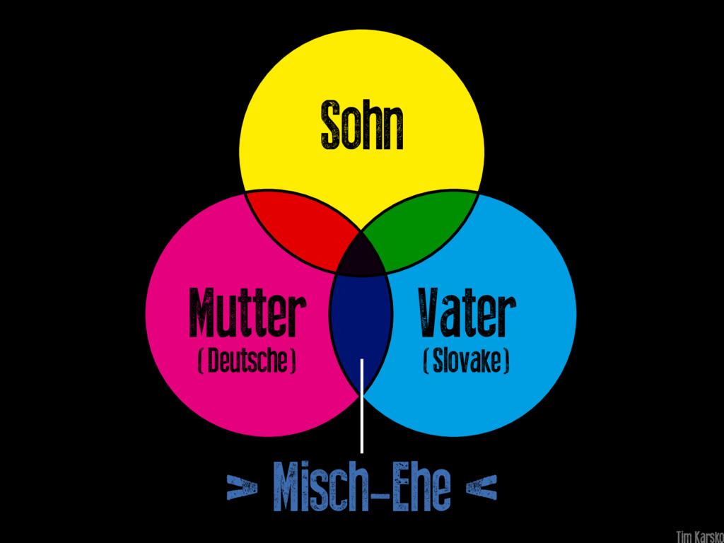 Vater (Slovake) Mutter (Deutsche) Sohn > Misch-...