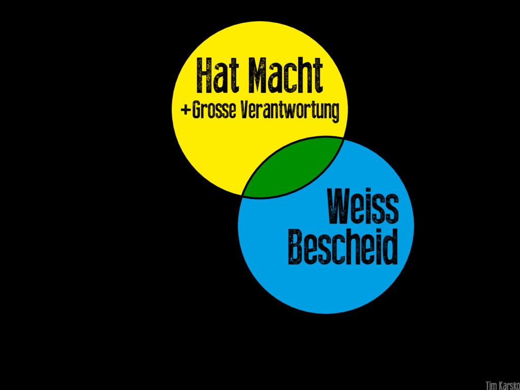Weiss Bescheid Hat Macht +Grosse Verantwortung