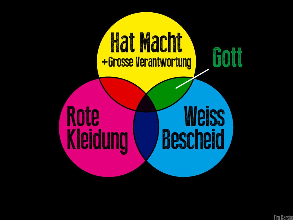 Gott Weiss Bescheid Rote Kleidung Hat Macht +Gr...