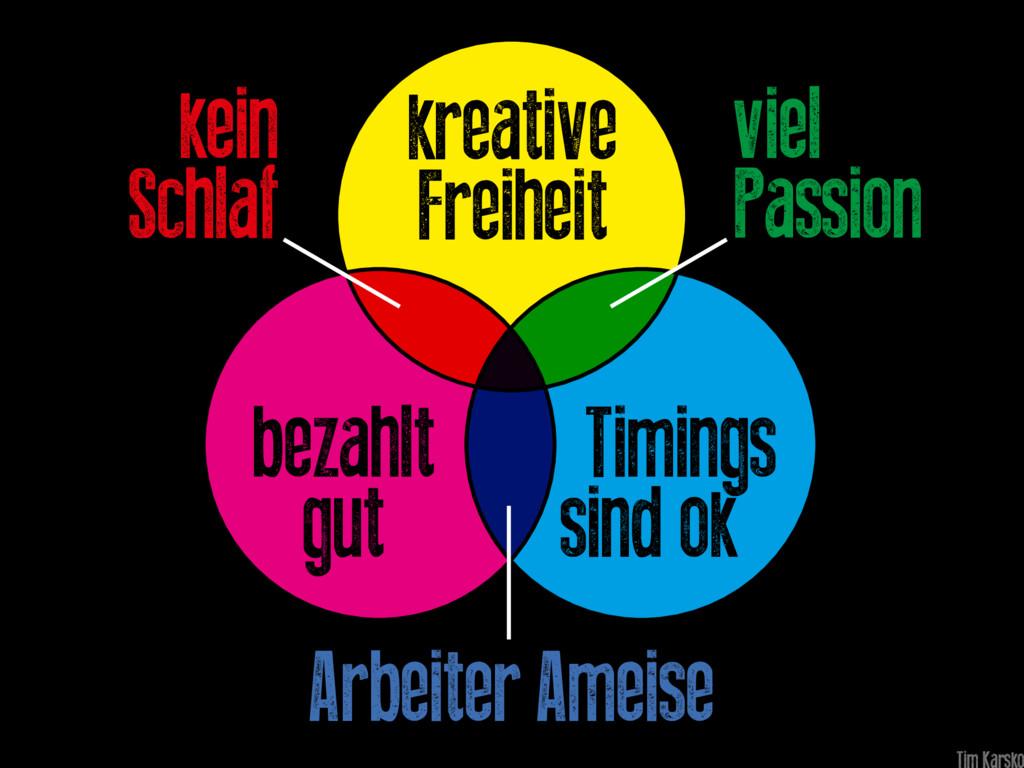 Timings sind ok bezahlt gut kreative Freiheit k...