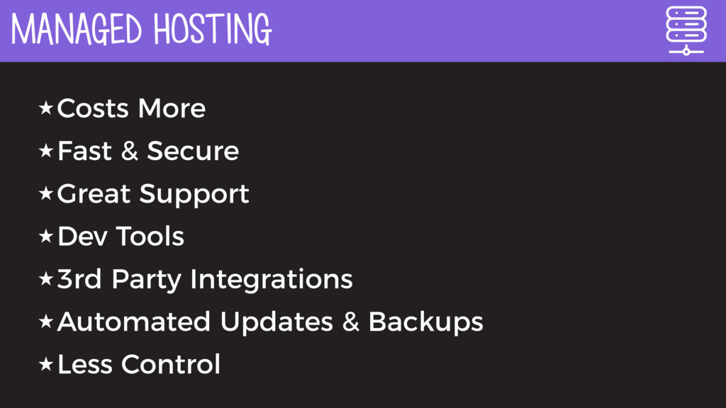 MANAGED HOSTING ★Costs More ★Fast & Secure ★Gre...