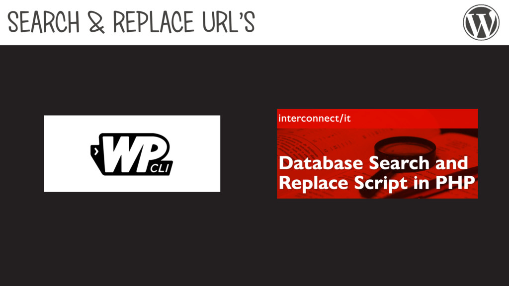 SEARCH & REPLACE URL'S
