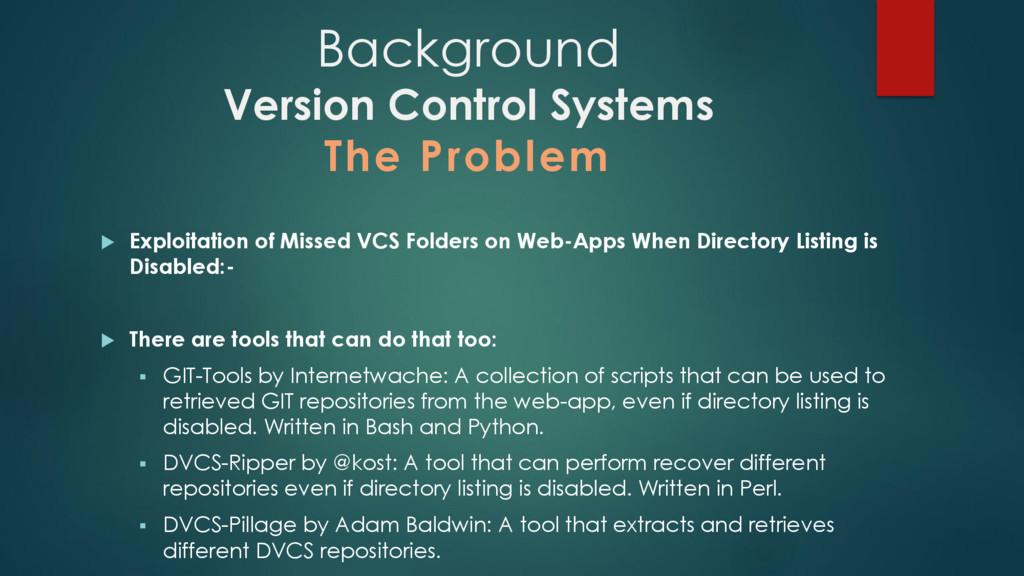  Exploitation of Missed VCS Folders on Web-App...