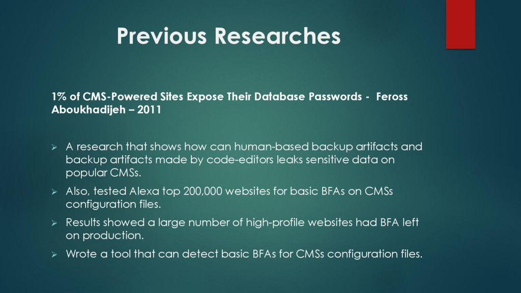 1% of CMS-Powered Sites Expose Their Database P...