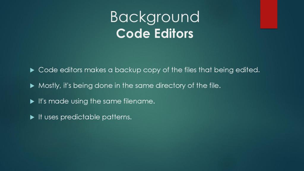 Background Code Editors  Code editors makes a ...