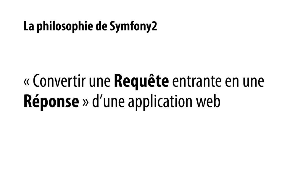 La philosophie de Symfony2 « Convertir une Requ...