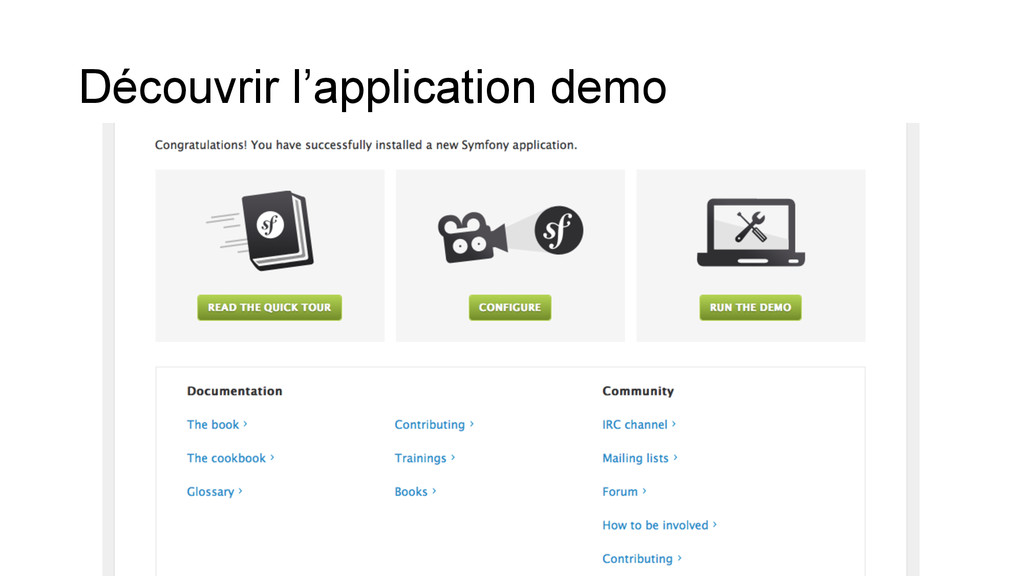 Découvrir l'application demo