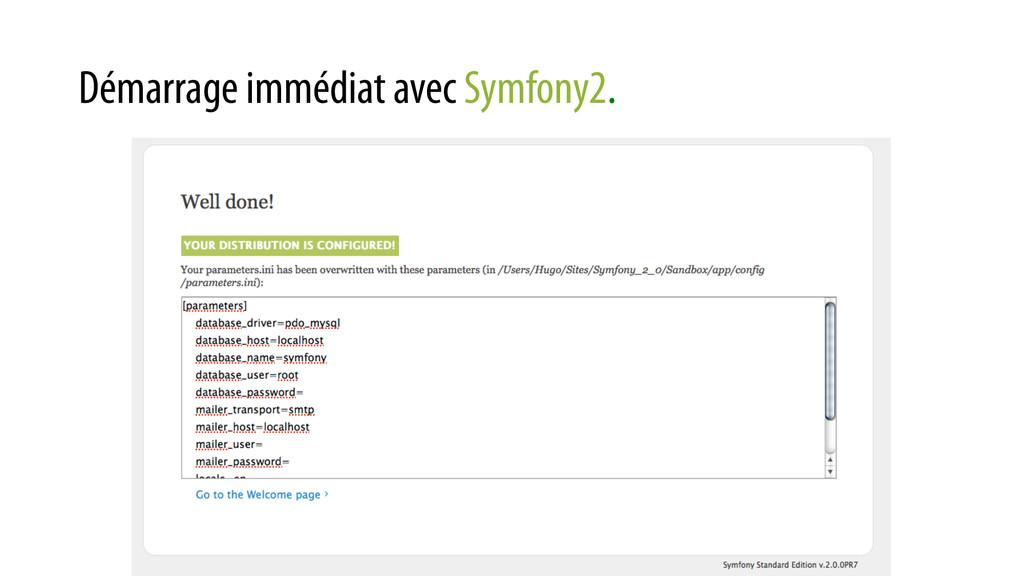 Démarrage immédiat avec Symfony2.