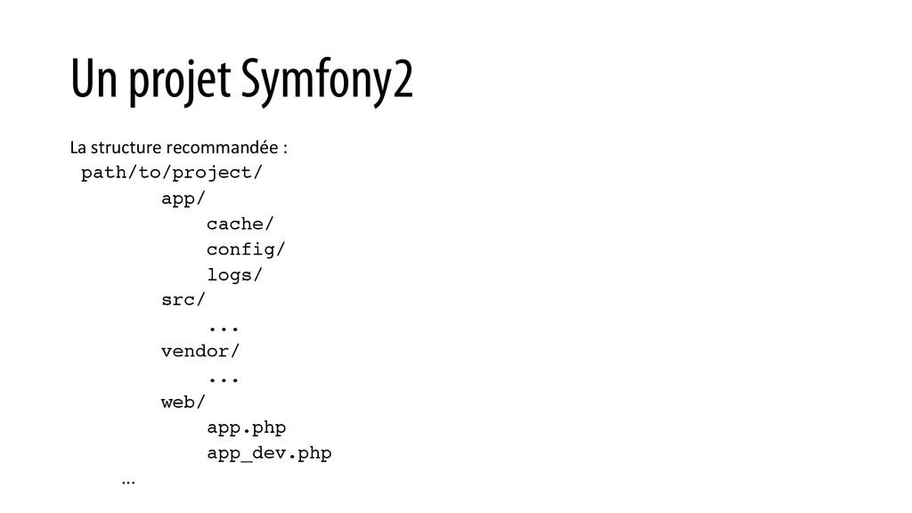 Un projet Symfony2 La structure recommand...