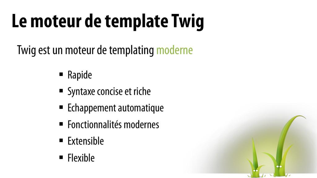 Le moteur de template Twig Twig est un moteur d...
