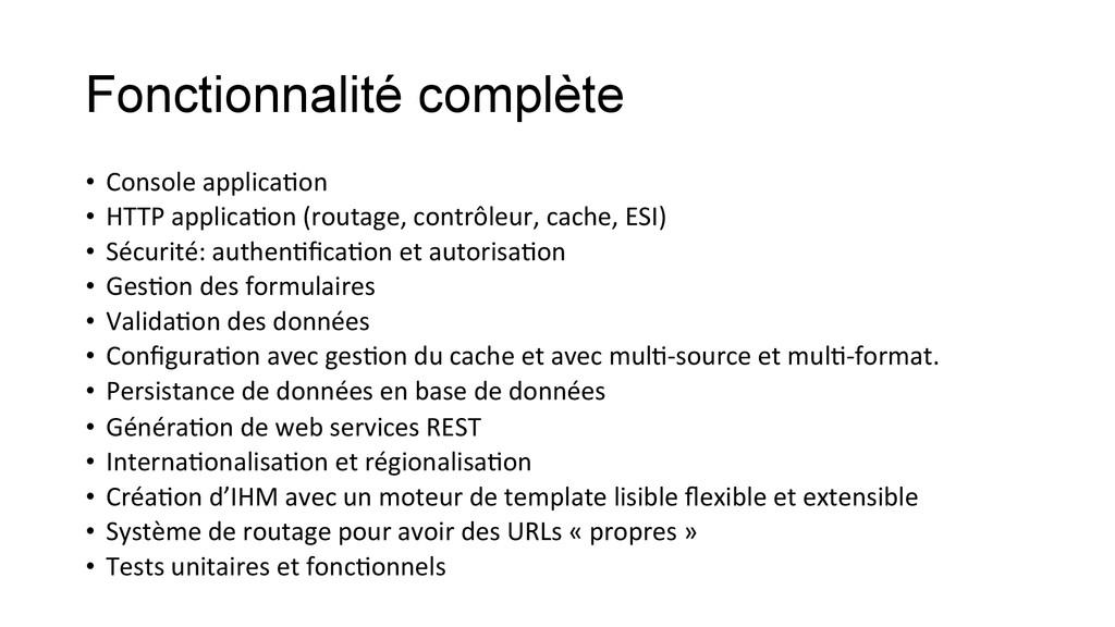 Fonctionnalité complète • Console applicaKo...
