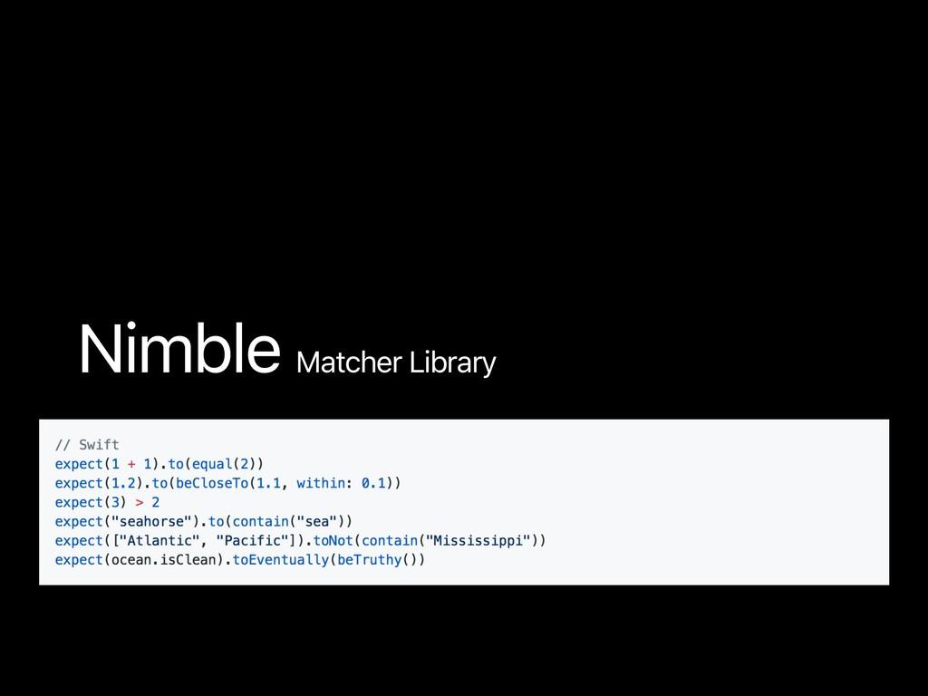 Nimble Matcher Library Nimble