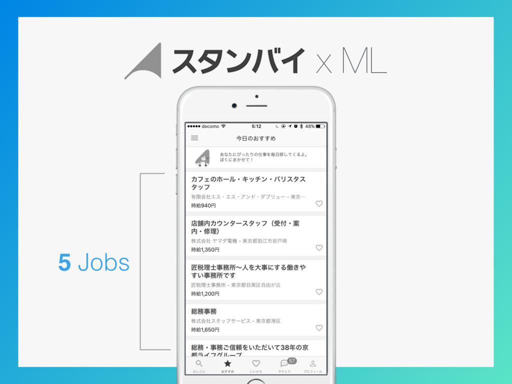 x ML 5 Jobs