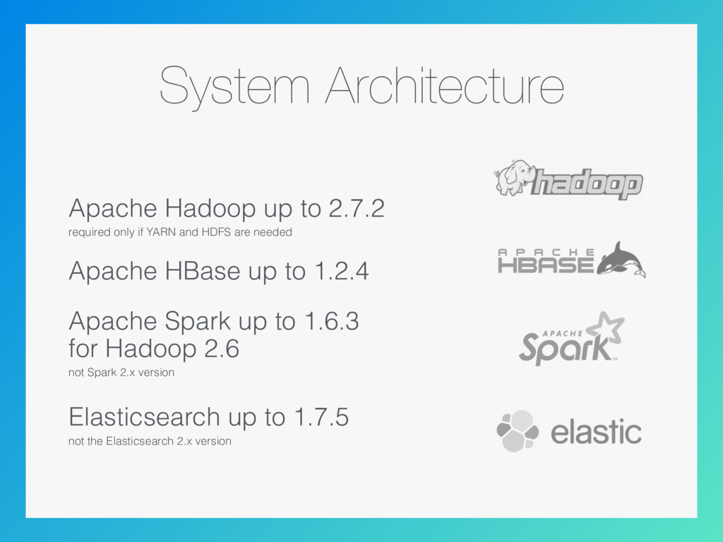 System Architecture Apache Hadoop up to 2.7.2 r...