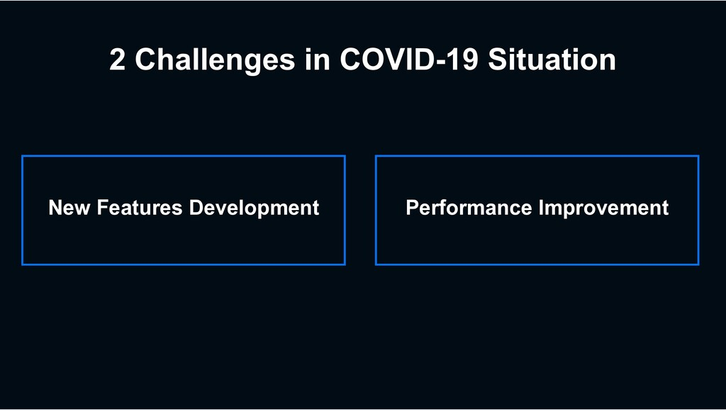 2 Challenges in COVID-19 Situation New Features...