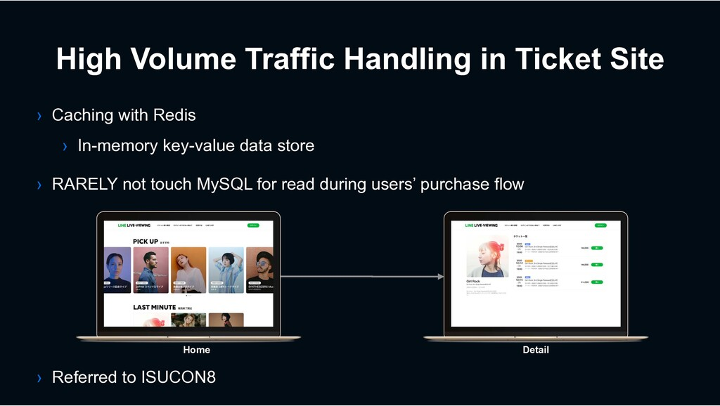 High Volume Traffic Handling in Ticket Site › C...