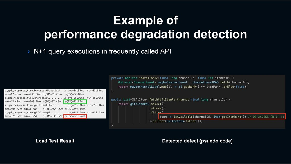 Example of performance degradation detection › ...