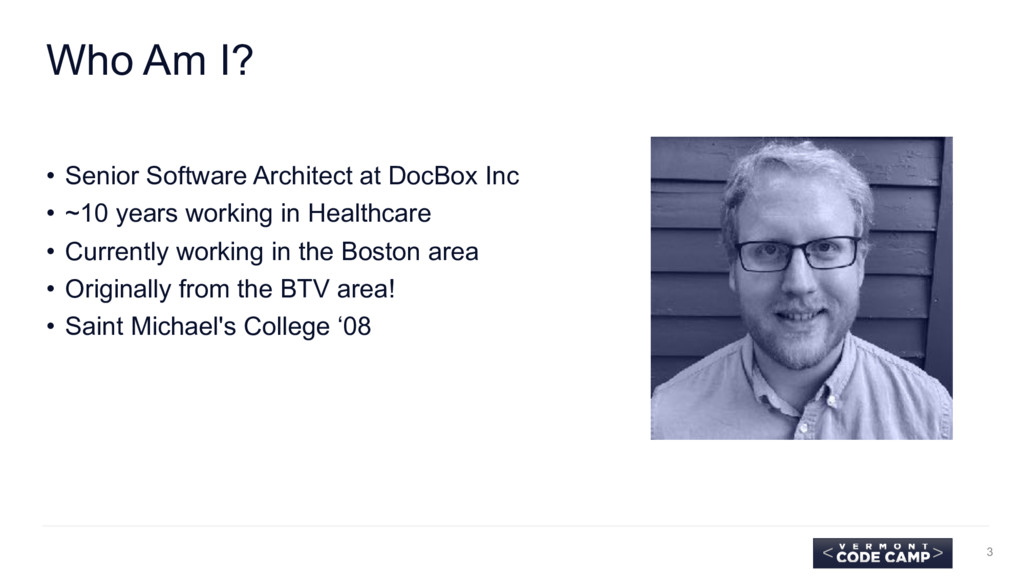 Who Am I? • Senior Software Architect at DocBox...