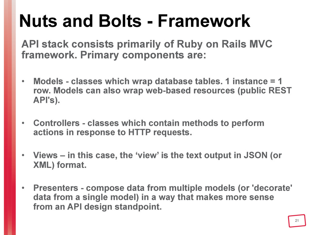 21 Nuts and Bolts - Framework API stack consist...