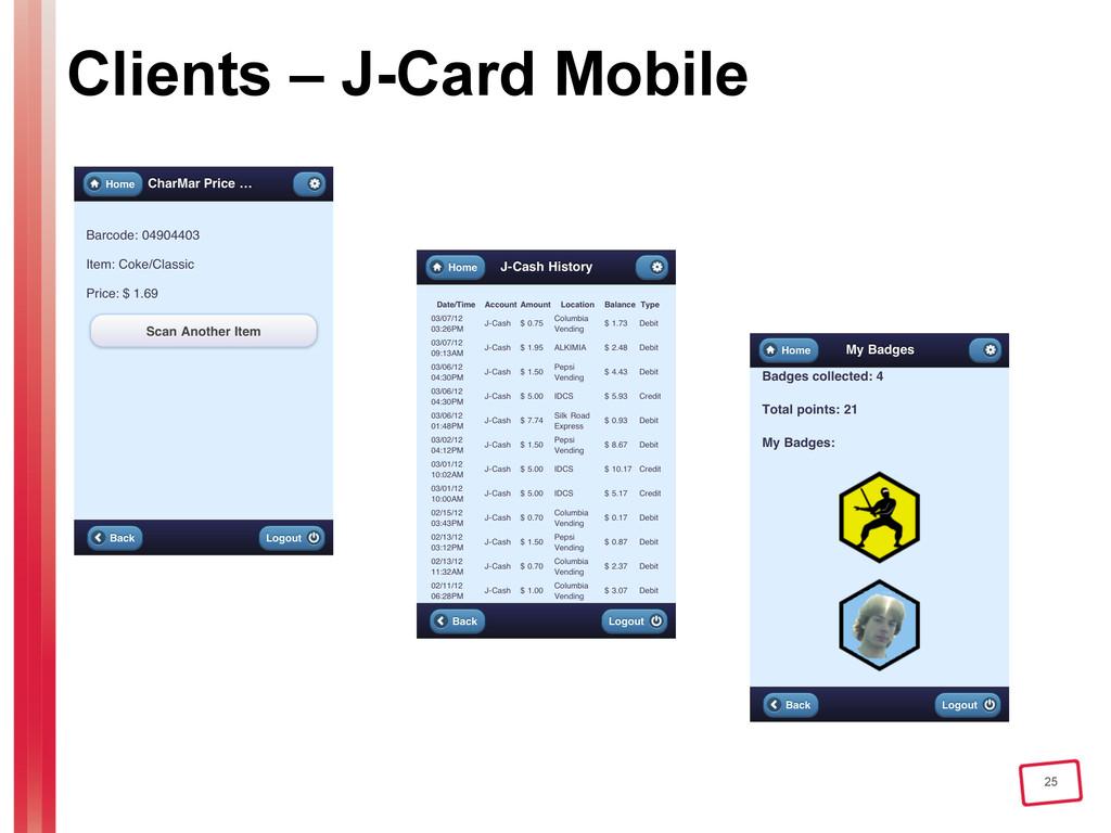 25 Clients – J-Card Mobile
