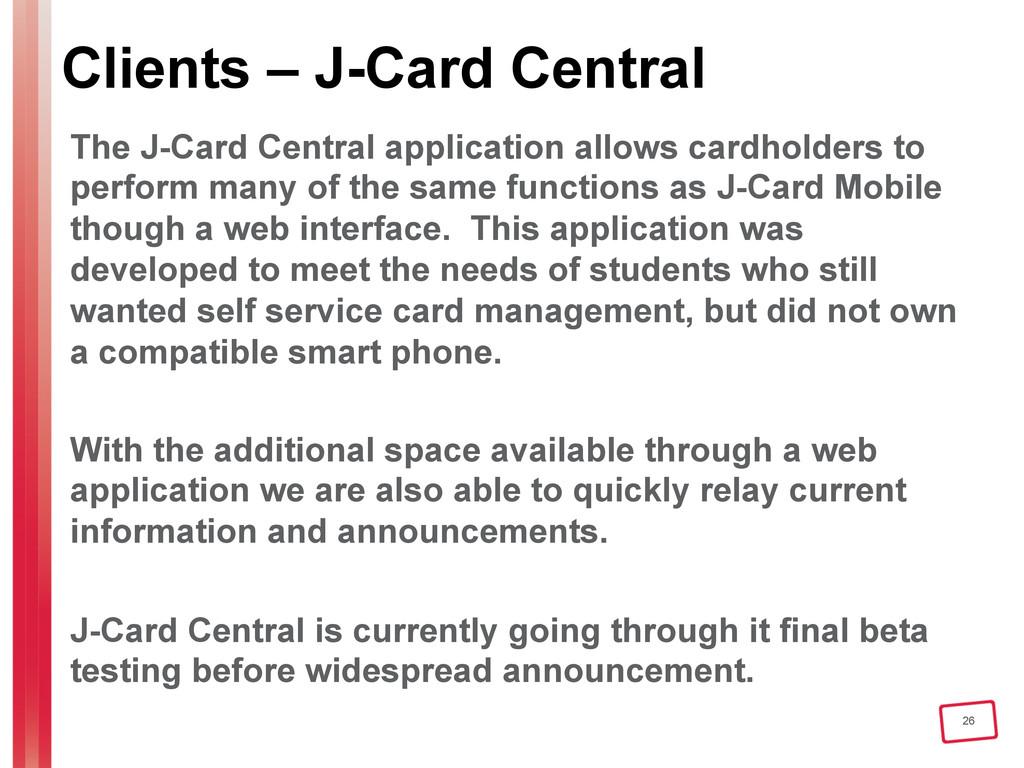 26 Clients – J-Card Central The J-Card Central ...