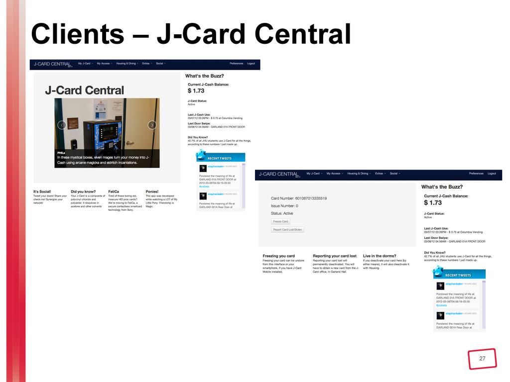 27 Clients – J-Card Central