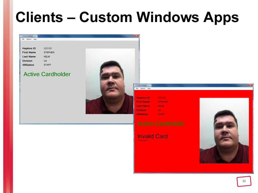 33 Clients – Custom Windows Apps