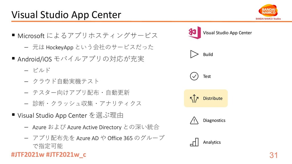 Visual Studio App Center § Microsoft によるアプリホスティ...