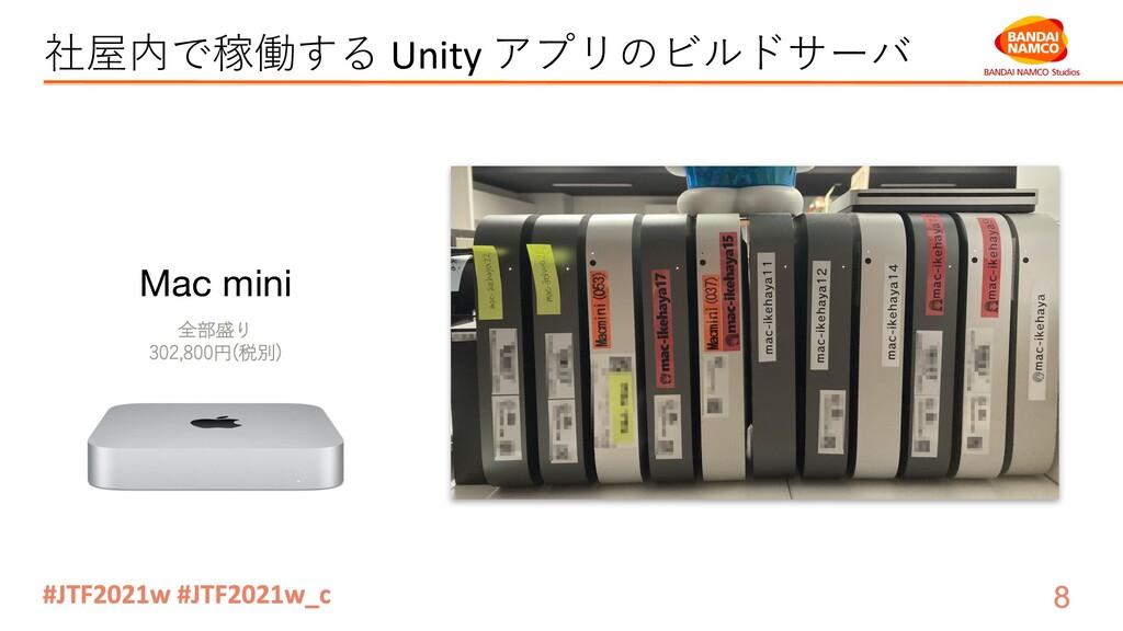 社屋内で稼働する Unity アプリのビルドサーバ Mac mini 全部盛り 302,800...